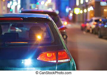 都市, 交通, 夜