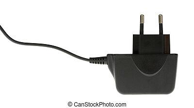 Black Plug - A photo of a black plug set against a white...