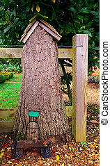 Fairy door in tree house