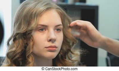 Making of hairstyle volume for the model girl - Beautiful...