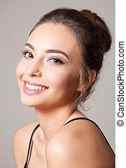 Brunette cosmetics beauty.
