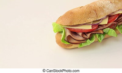 Giant Salad Sub Dolly - Giant ham, tomato, lettuce, cheese...