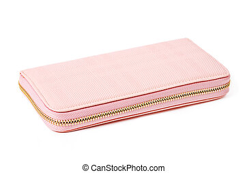 little pink purse. - little pink purse isolated on white...