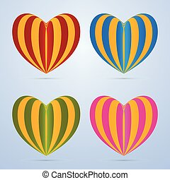 Colorful vector heart illustration