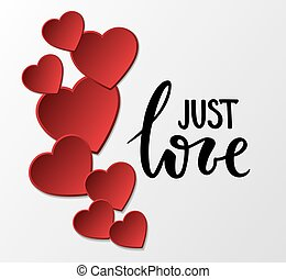 Jast love Hand drawn calligraphy and brush pen lettering...