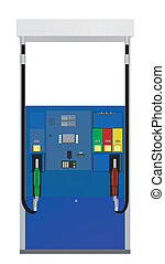 Gas Pump - A vector illustration of a gas pump set against a...