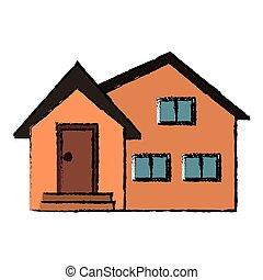 housewarming facade exterior design vector illustration eps...