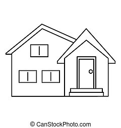 housewarming facade exterior outline vector illustration eps...