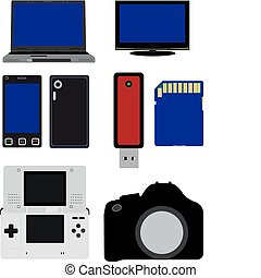 Electronics Illustration - A vector illustration of some...