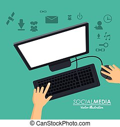 social media computer working