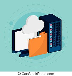 data center cloud computing folder