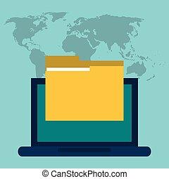 laptop folder file information digital
