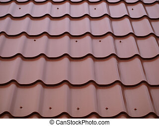 Roof tiles - The red tiles roof of the house