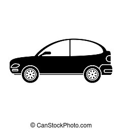 silhouette car coupe parking lot vector illustration eps 10