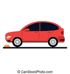 car coupe parking lot vector illustration eps 10