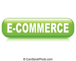 commerce button on white background - Illustration of...