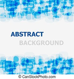Abstract blue rounded rectangle overlapping background
