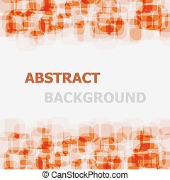 Abstract orange rounded rectangle overlapping background