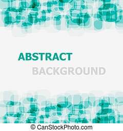 Abstract green rounded rectangle overlapping background