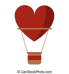 airballon heart love romantic classic vector illustration...