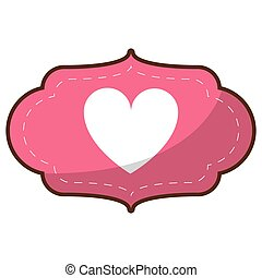 love gift box bow wrapped - card love heart ornament vector...