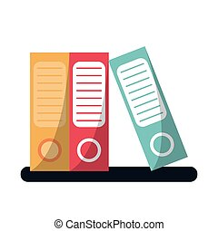 folder document archive folio office vector illustration eps...