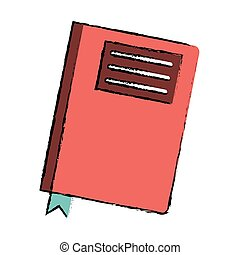 drawing book diary directory office vector illustration eps...