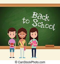 back to school girls pupil board