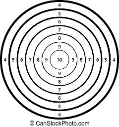 target for shooting at a  range