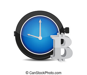 bitcoin time to buy concept illustration design graphic