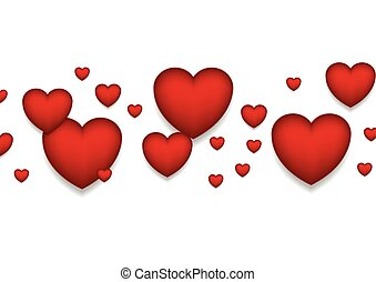 St Valentines Day abstract red hearts background. Vector...