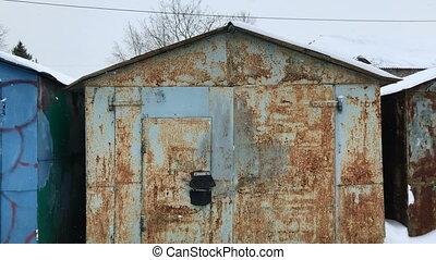 Old little car garages