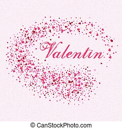 Festive background for postcard with hearts for Valentine s Day. Vector illustration