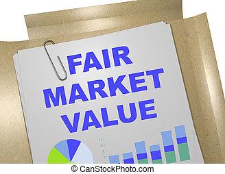Fair Market Value - business concept