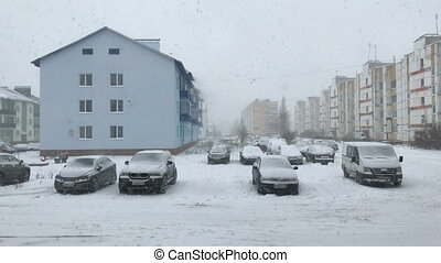 view in front of house in winter - Static view in front of...