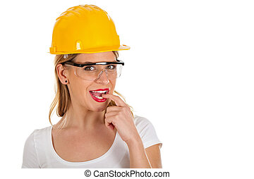Sexy young architect - Picture of a sexy young woman wearing...