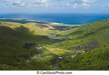 Green Valley - Green valley near Haria on Lanzarote Island,...