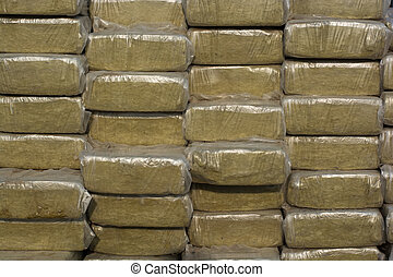 Pack of mineral wool - Mineral wool is ready to thermally...