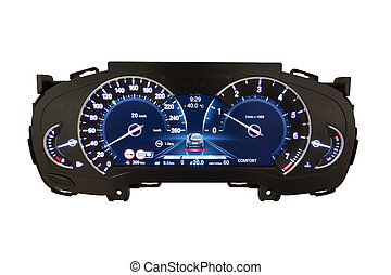 Dashboard and digital display - mileage, fuel consumption,...