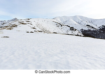 Balkan Mountains peaks - Balkan Mountains covered with snow...