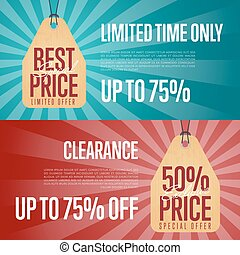 Special offer discount banner set