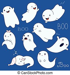 Collection of cute ghosts