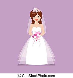 Girl in bride dress