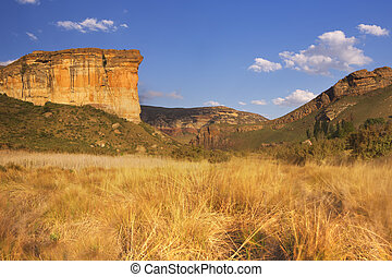 The Golden Gate Highlands National Park in South Africa -...
