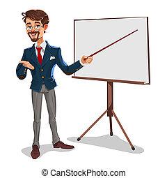 businessman in a presentation