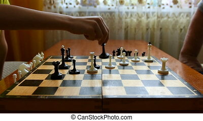 Chessboard and chess pieces 1080