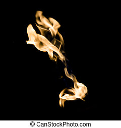 Fire square image - A square image of fire on a black...