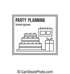 Party planning line icon
