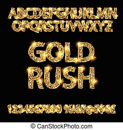 gold rush. alphabets - gold rush. gold alphabets and numbers...