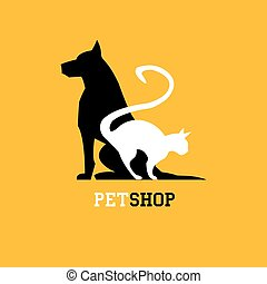Pet shop. Veterinary sign - vector